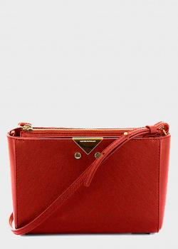 Сумка кросс-боди Emporio Armani красного цвета, фото
