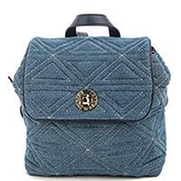 Стеганый рюкзак Emporio Armani синего цвета, фото
