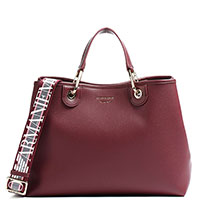 Бордовая сумка Emporio Armani с тиснением, фото