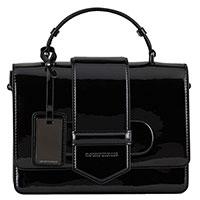 Черная лаковая сумка Emporio Armani с ремнем, фото