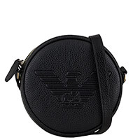Кругая сумка Emporio Armani с тиснением в виде логотипа, фото