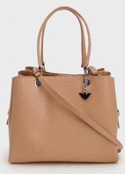 Бежевая сумка Emporio Armani с тонким ремнем, фото