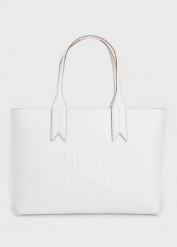 Сумка Emporio Armani с тисненым логотипом, фото