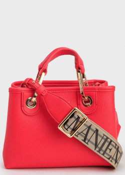 Красная сумка Emporio Armani на широком ремне, фото