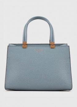 Голубая сумка-тоут Emporio Armani с зернистой текстурой, фото