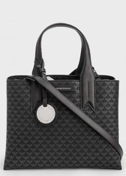 Черная сумка Emporio Armani с принтом бренда, фото