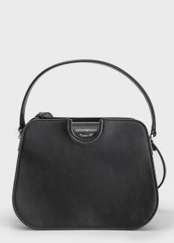Черная сумка Emporio Armani со съемным плечевым ремнем, фото