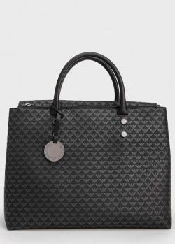 Черная сумка-тоут Emporio Armani с принтом, фото