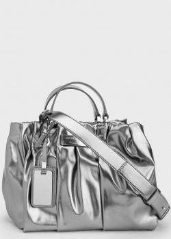 Женская сумка серебристого цвета Emporio Armani, фото