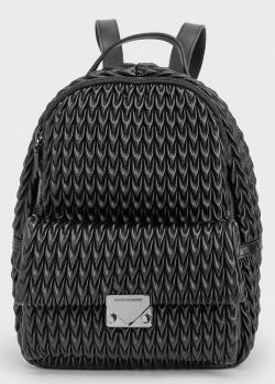 Черный женский рюкзак Emporio Armani из объемной экокожи, фото