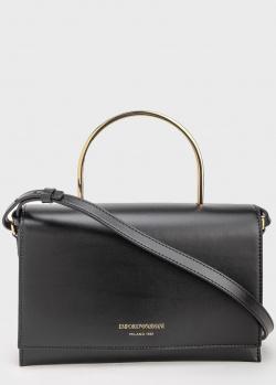 Черная сумка Emporio Armani прямоугольной формы, фото