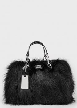 Черная сумка Emporio Armani с искусственным мехом, фото