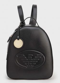 Черный женский рюкзак Emporio Armani с орлом, фото