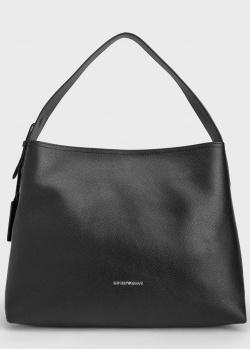 Черная сумка Emporio Armani с логотипом внизу, фото