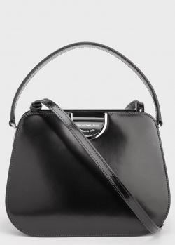 Блестящая сумка Emporio Armani черного цвета, фото
