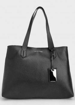 Черная сумка-шоппер Emporio Armani с декором, фото