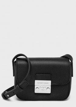 Черная сумка Emporio Armani из зернистой кожи, фото