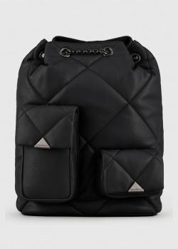 Стеганый рюкзак-мешок Emporio Armani из экокожи, фото