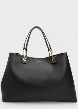 Черная сумка-тоут Emporio Armani из экокожи, фото