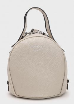 Белая сумка кросс-боди Emporio Armani Bowling из кожи, фото