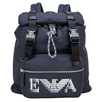 Детский рюкзак Emporio Armani синего цвета с логотипом, фото