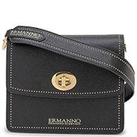 Женская сумка Ermanno Ermanno Scervino черного цвета через плечо, фото