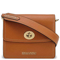 Коричневая сумка Ermanno Ermanno Scervino с заклепками, фото