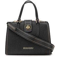 Черная сумка-тоут Ermanno Ermanno Scervino на съемном ремне, фото