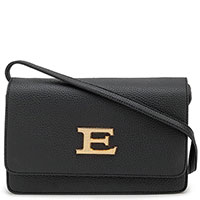 Черная сумка Ermanno Ermanno Scervino с золотистой фурнитурой, фото