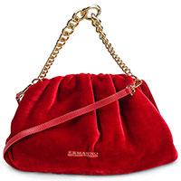 Бархатная сумка Ermanno Ermanno Scervino красного цвета, фото