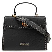 Черная сумка Ermanno Ermanno Scervino на широком ремне, фото