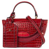 Красная сумка Greymer с тиснением кроко, фото