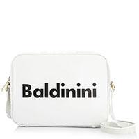 Белая сумка Baldinini Giulia с тиснением кроко, фото