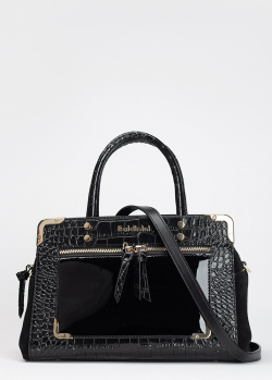 Черная сумка-тоут Baldinini Annie с тиснением кроко, фото