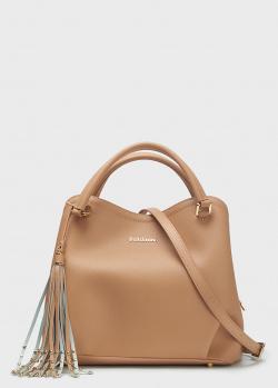 Бежевая сумка Baldinini Kate с брелком, фото