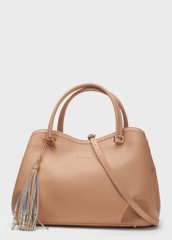 Бежевая сумка-тоут Baldinini Kate со съемным ремнем, фото