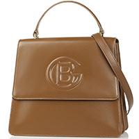 Коричневая сумка Baldinini Camilla из полированной кожи, фото