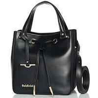 Черная сумка-мешок Baldinini Jasmine со съемным ремнем, фото