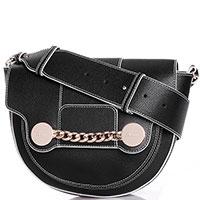 Черная сумка Baldinini Zelda с декором-цепочкой, фото