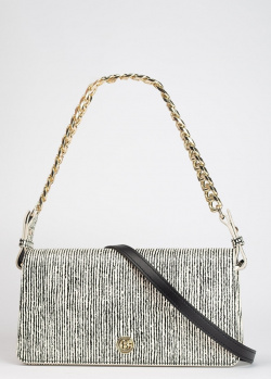 Полосатая сумка-багет Baldinini Helen со съемным ремешком, фото