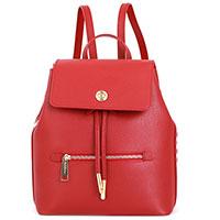 Темно-красный рюкзак Baldinini Aida с белым логотипом, фото
