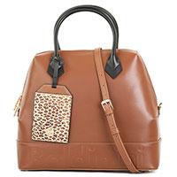 Коричневая сумка Baldinini Ingrid из гладкой кожи, фото