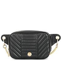 Стеганая сумка на пояс Baldinini Tracy черного цвета, фото
