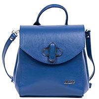 Сумка-рюкзак Amo Accessori AMOOFashion из кожи синего цвета, фото
