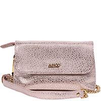 Женская сумка Amo Accessori AMOOFashion розовая с принтом, фото