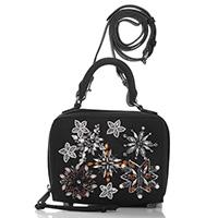 Черная сумка Rebecca Minkoff с цветочной аппликацией, фото