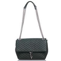 Зеленая сумка Rebecca Minkoff Edie Flap Shoulder с задним карманом, фото