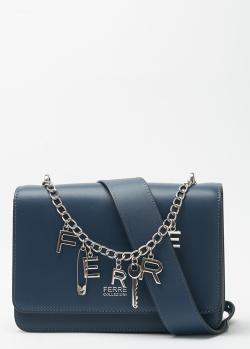 Сумка из кожи Ferre Collezioni с брендовым декором, фото
