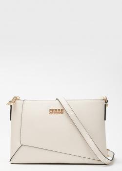 Белая сумка Ferre Collezioni с тиснением сафьяно, фото