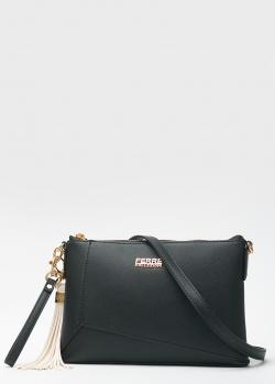Черная сумка Ferre Collezioni с декором-кисточкой, фото